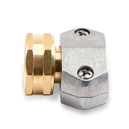Gilmour Gilmour Pro 5/8 inch and 3/4 inch Brass Female Clamp Coupling