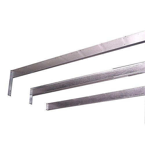 Ensemble de renforcement de toiture pour hangars de 10 x 13 et 10 x 14 pi (sauf pour les unités à portes battantes)