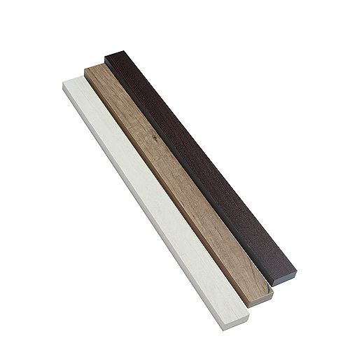 Home Decorators Collection 23 Inch x1-3/4 Inch x5/8 Inch  Fascia, Driftwood