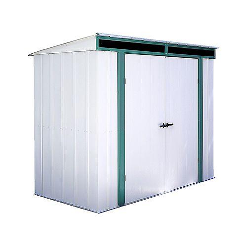 Euro-Lite™, 2,4x1,2, acier galvanisé à chaud, couleur pré vert / coquille d'œuf, toit incliné