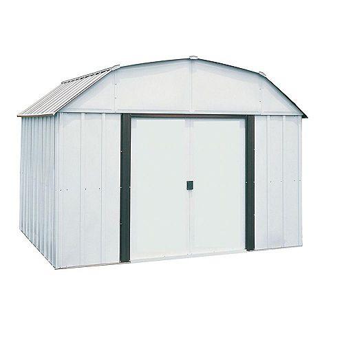 Lexington, 3x2,4, acier électrogalvanisé, couleur taupe / coquille d'œuf, toit en mansarde