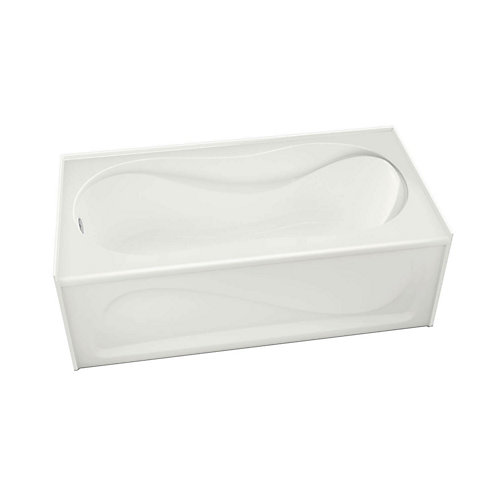 Cocoon 60-inch x 30-inch IFS White Soaker Bathtub with Left Drain