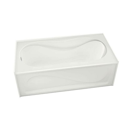 Cocoon 60L x 30W x 21H Rectangular Alcove Acrylic Bathtub Left Drain in White with 13.125-inch Soaking Depth
