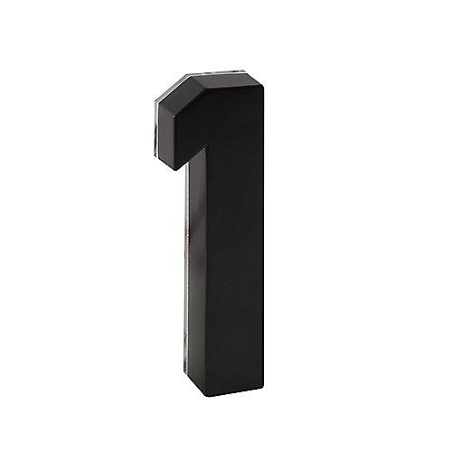 Numéro de maison en métal noir de 6po rétroéclairé Àdel