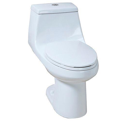 4.1/6.0LPF 1-Piece elongated dual flush AIO toilet
