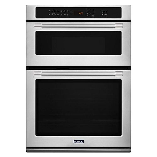 30-inch 6.4 cu. ft. Double Electric Wall Oven Self-Cleaning & Microwave with Convection in Fingerprint Resistant Stainless Steel