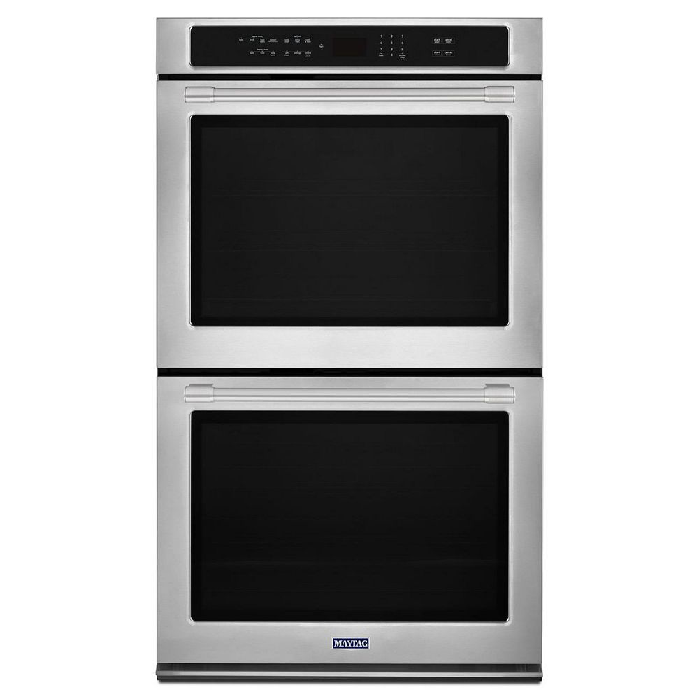 Maytag 30-inch 10 cu. ft. Double Electric Wall Oven with Convection in Fingerprint Resistant Stainless Steel
