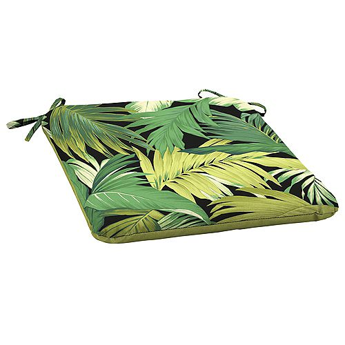 Outdoor Seat Pad in Green Tropicalia