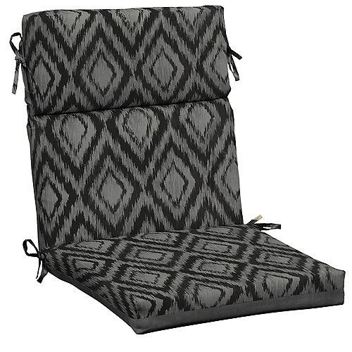 Outdoor Dining Chair Cushion in Jackson Ikat Diamond