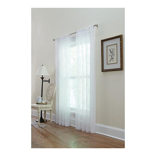 Home Decorators Collection Panneau de draperie passe-pôle, blanc,  50 x 108