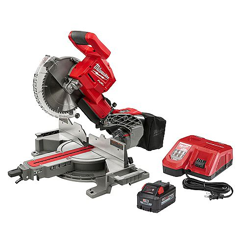 M18 FUEL 18-Volt 10 in. Cordless Dual Bevel Sliding Compound Miter Saw Kit with 8.0 Ah Battery