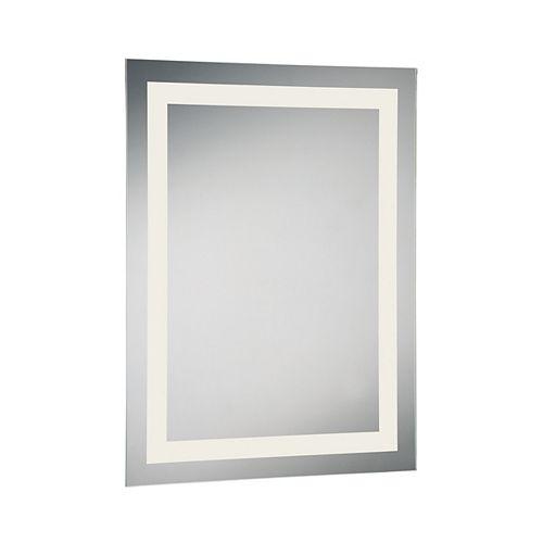 Petit miroir rectangulaire à éclairage frontal à DEL