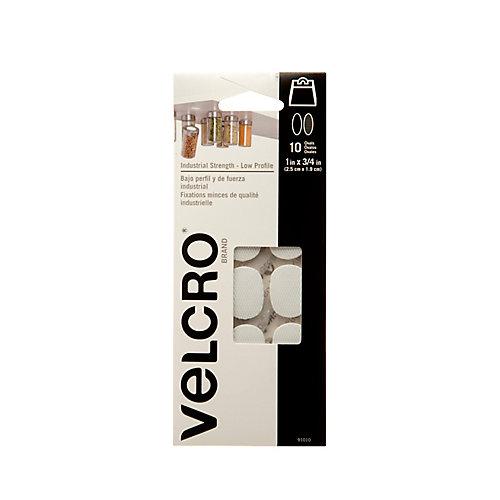 VELCRO ULTRA-MATE SPOTS, 10 PACK,WHT