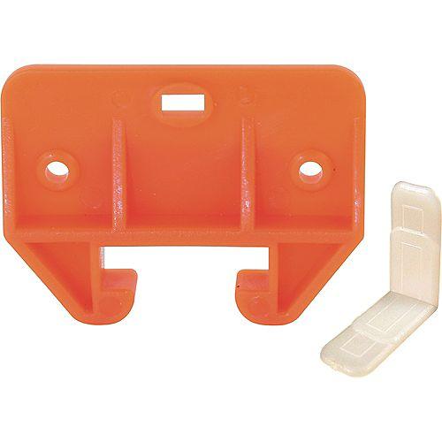Orange, Plastic Drawer Track Guide Kit (2-pack)
