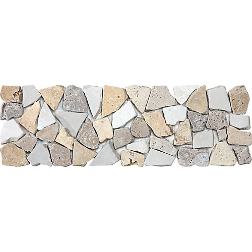 4-Inch x 12-Inch Pebble Listello Wall Tile