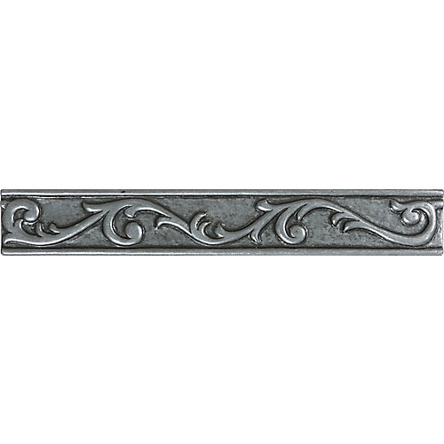1-Inch x 8-Inch Scroll Liner in Pewter
