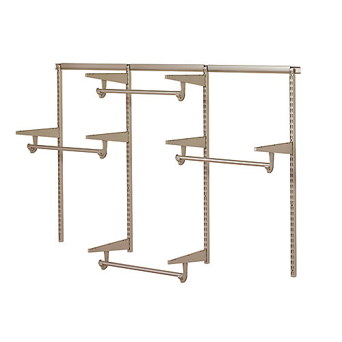 Closet Culture 6 ft. Closet Hardware Kit in Champagne Nickel