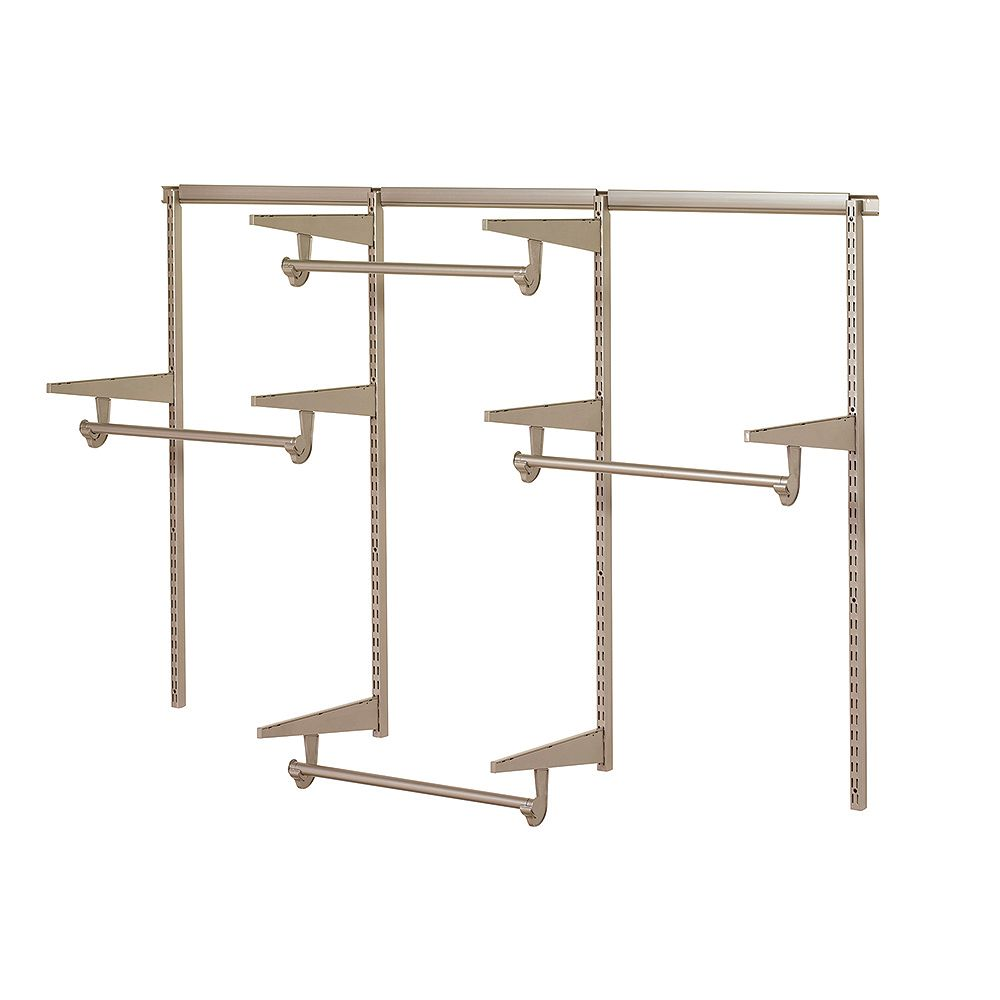 Home Decorators Collection 6 Ft Closet Hardware Kit In Champagne Nickel The Home Depot Canada