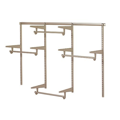 Home Decorators Collection 6 ft. Closet Hardware Kit in Champagne Nickel