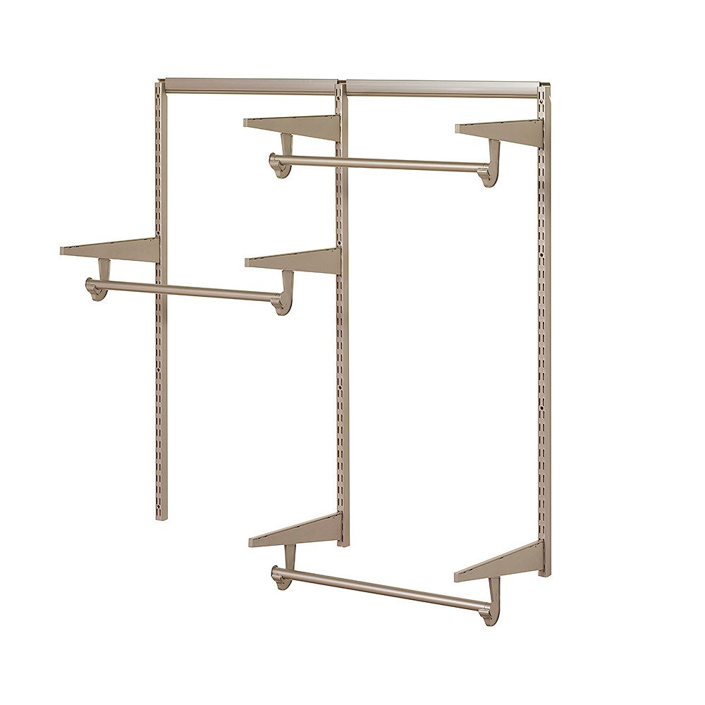 Home Decorators Collection Home Decorators 4 ft. Closet Hardware Kit in Champagne Nickel