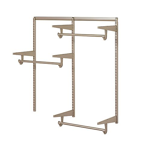 Home Decorators 4 ft. Closet Hardware Kit in Champagne Nickel