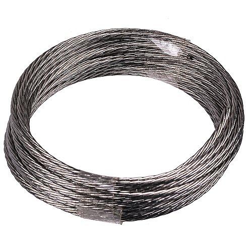 Fil de suspension de 9 pi 100 lb maxi en acier inoxydable - 1 pce