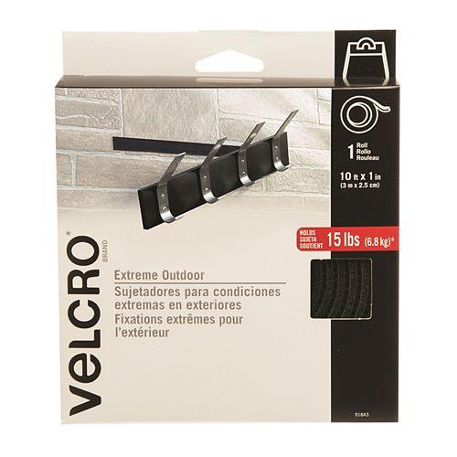 VELCRO VELCRO EXTREME 10'  X 1 TAPE, BLACK
