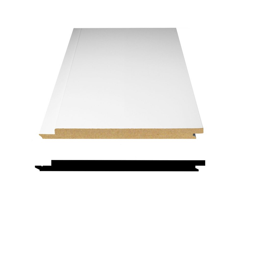 Alexandria Moulding Primed Fibreboard Shiplap Paneling 1/2-inch x 5-5/16-inch x 8 Feet