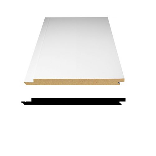 Primed Fibreboard Ship Lap Paneling 1/2 Inch x 5-5/16 Inch x 8 Feet