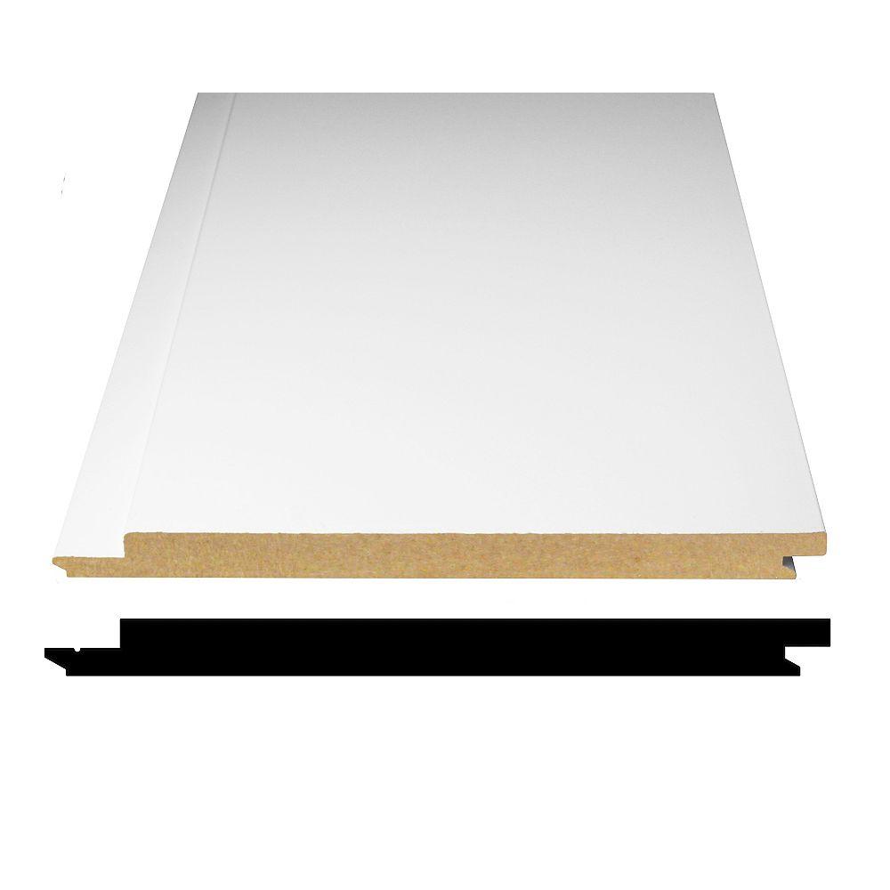Alexandria Moulding Primed Fibreboard Shiplap Paneling 1/2-inch x 7-5/16-inch x 8 Feet