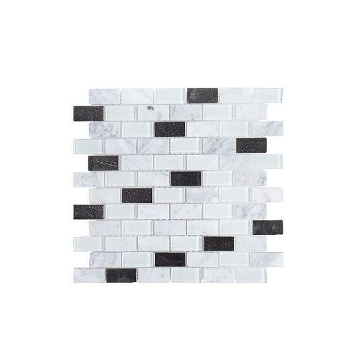 Jeffrey Court Feuille de mosaïque, 12 po x 12 po, 6 mm, blanc techno