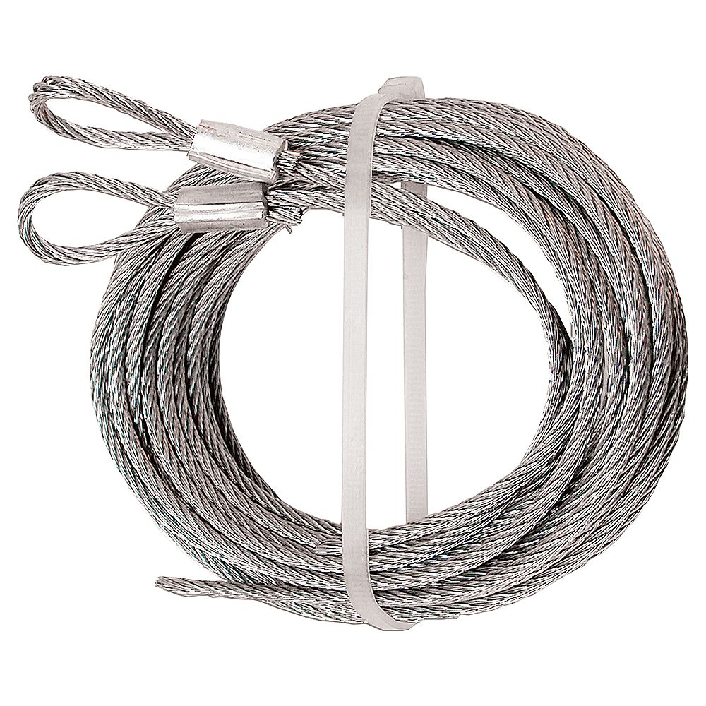 Prime-Line Extension Cables, 1/8 in. Cable, Carbon Steel (2-pack)