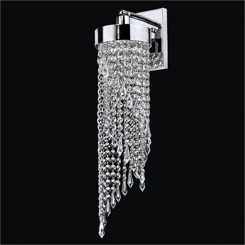 "6 ""Crystal Swirl Wall Sconce   Intuition 609"