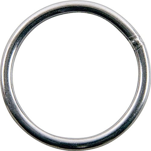 1-1/2 inch Stainless Steel Welded Harness Ring - 2-Piece