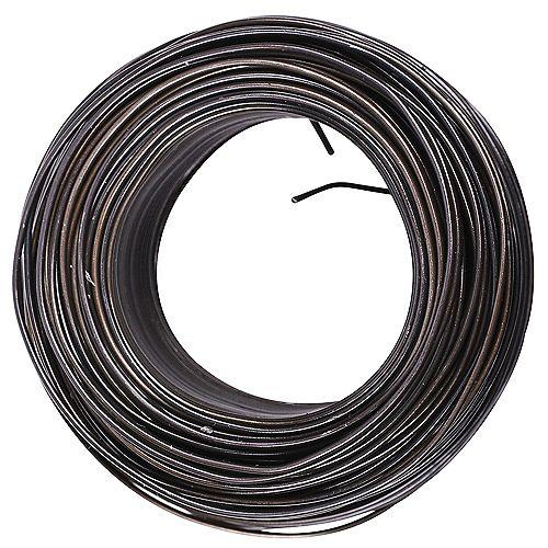 Fil d'acier de 165 pi. 20 gal. 10 lb max. en noir - 1pc