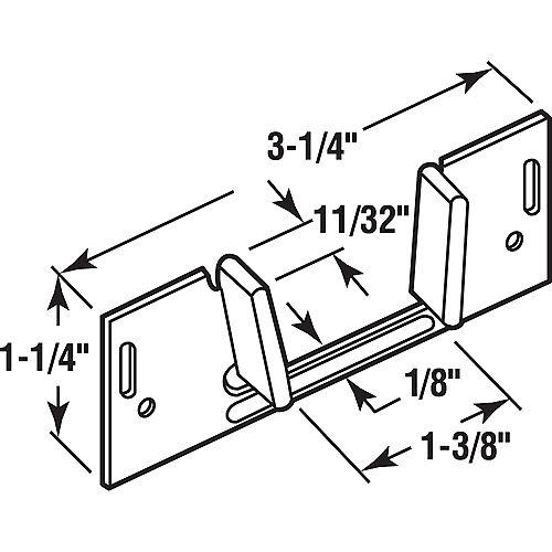 Prime-Line 4 in., Polished Brass Surface Bolt