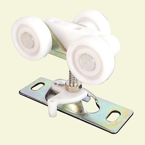 Assemblage de roulettes pour porte coulissante encloisonnée, roulettes en plastique