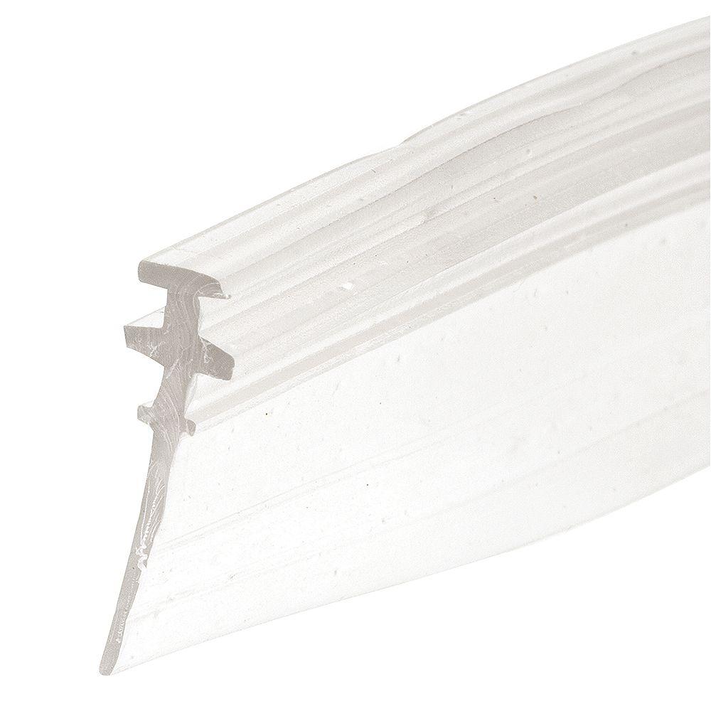 Prime-Line Joint d'étanchéité de bas de porte de douche, double T, 36 po, clair