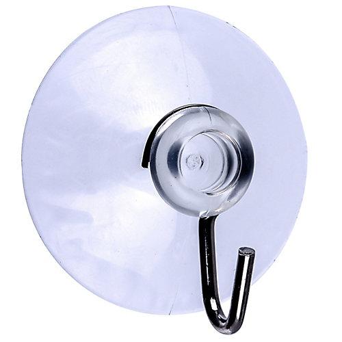 5-Lb Max Large Clear Suction Cups - 3pcs