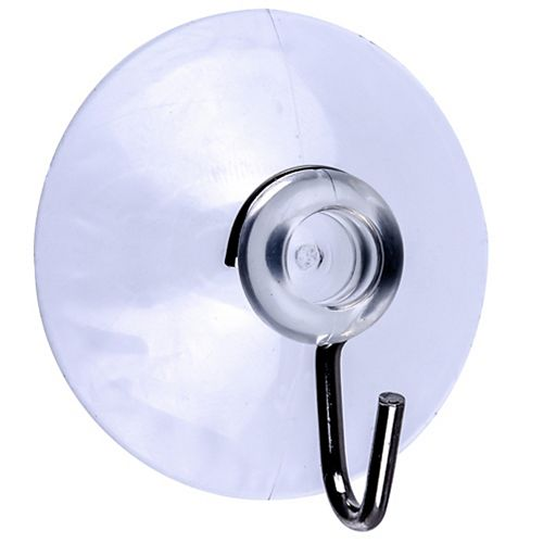 5-Lb Max Large Clear Suction Cups - 3pcs