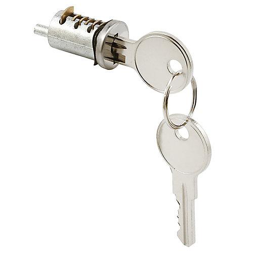 Cylinder Lock, 13/16 inch Diecast, Wafer Type, 1 inch Thick Door