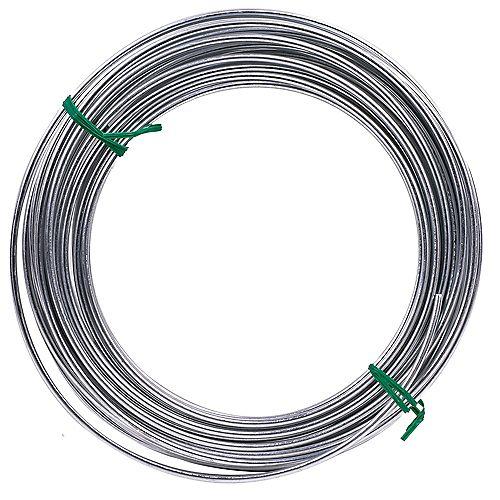 50 pi 9-Ga 9-Ga 165 lb max. de fil de fer galvanisé pour services publics - 1pc
