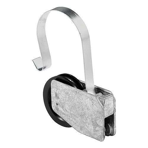 Roulette de tension à ressort en nylon de 1-1/8 po pour porte moustiquaire.