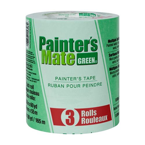 Painter's Tape, 1.88 inch x 60 yds., Green (3-Pack)