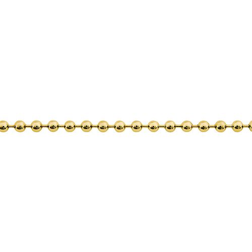 Everbilt 2 Ft. Solid Brass Bead Chain Kit with 2 End Links and 2 Couplings