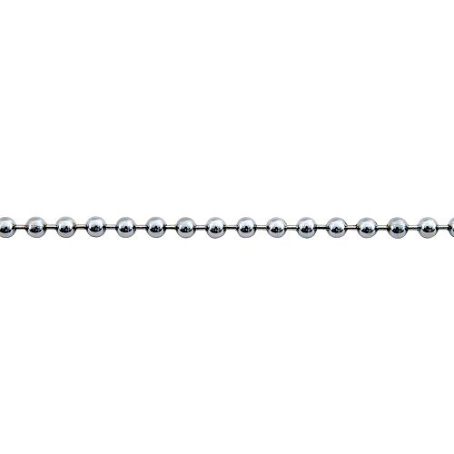 10 x 10 pi Chaîne à billes chromée avec raccords d'extrémité et accouplements