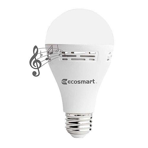 Ecosmart Ampoule DEL A21 blanc doux (2700K), équivalence 40W avec haut-parleur Bluetooth