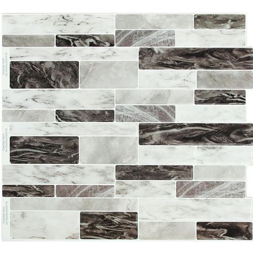 Stick-It Tiles Dark Sky Marble Peel and Stick It 11.25X10 (4-Pack)