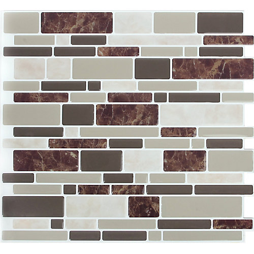 DBL Brown Marble Peel and Stick It 11.25X10 (4-Pack)