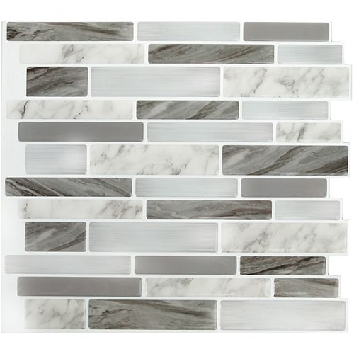 Marble Grey OBL Peel and Stick It 11.25X10 (8-Pack)